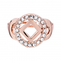 NA service symbol Ring with Clear Swarovski Crystals - Rose Gold Plated