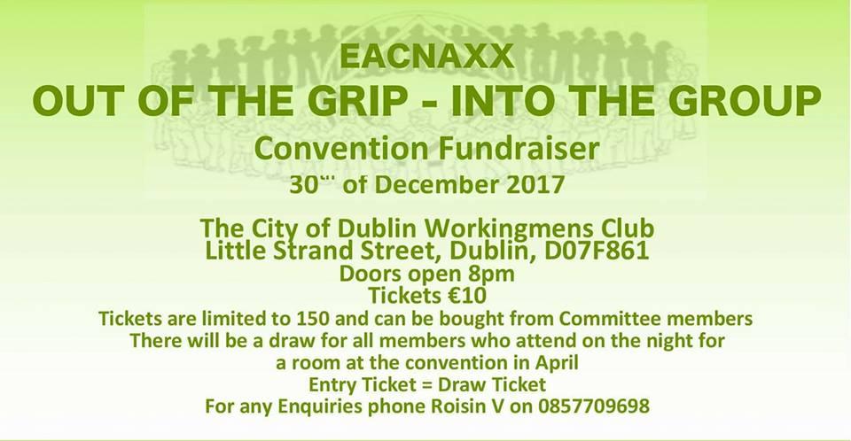 EACNAXX Convention Fundraiser 30th December 2017