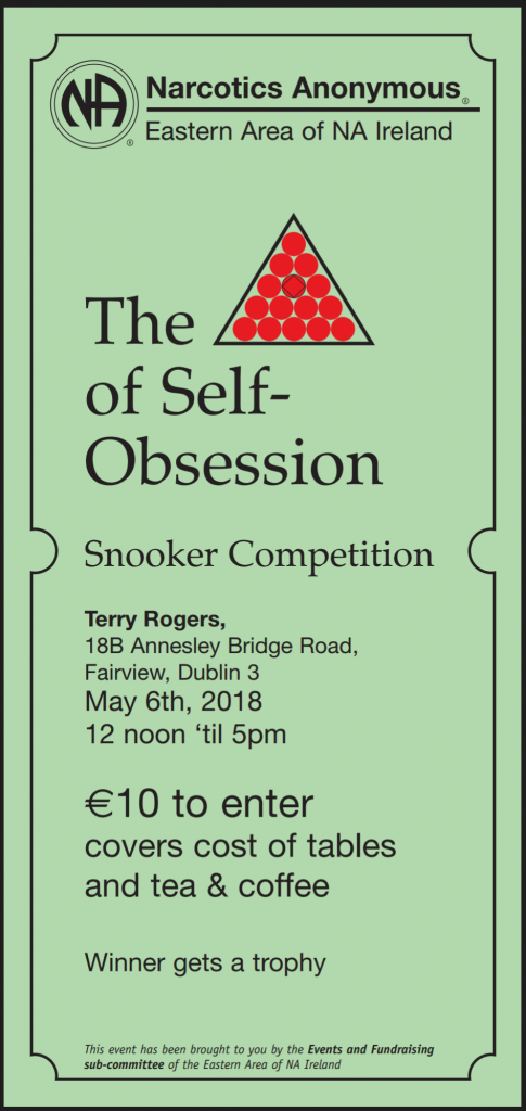 Eastern Area Snooker Comp – May 6th 2018