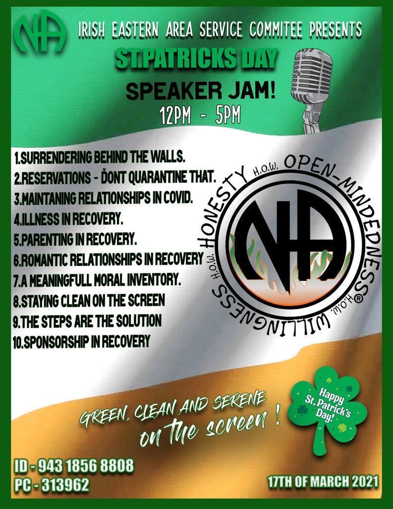 St. Patrick's Day Speaker Jam 2021